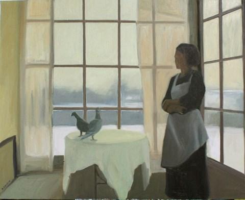 Obraz do salonu artysty Agata Ruman pod tytułem Zimowe popołudnie
