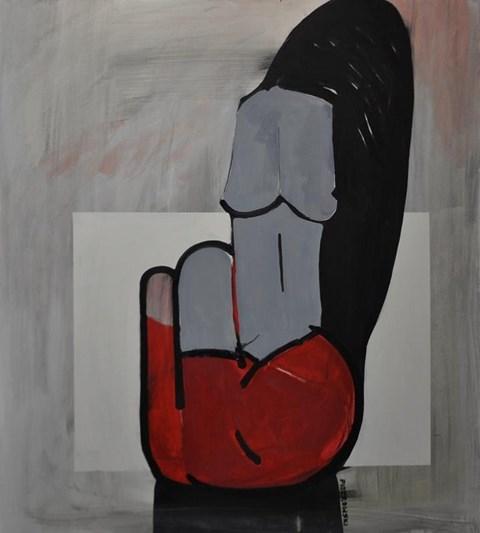 Obraz do salonu artysty Grzegorz L. Piotrowski pod tytułem Biały pomnik