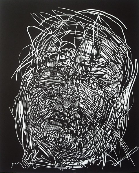 Obraz do salonu artysty Adam Sikorski pod tytułem Gęba