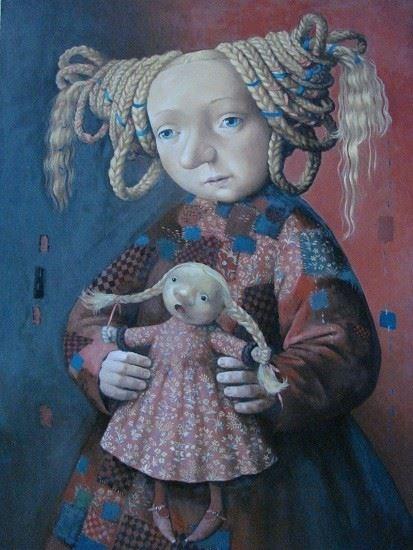 Obraz do salonu artysty Katarzyna Słowiańska-Kucz pod tytułem Biedna sukienka