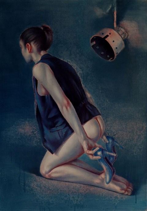 Obraz do salonu artysty Sylwester Stabryła pod tytułem Sezon na szpilki