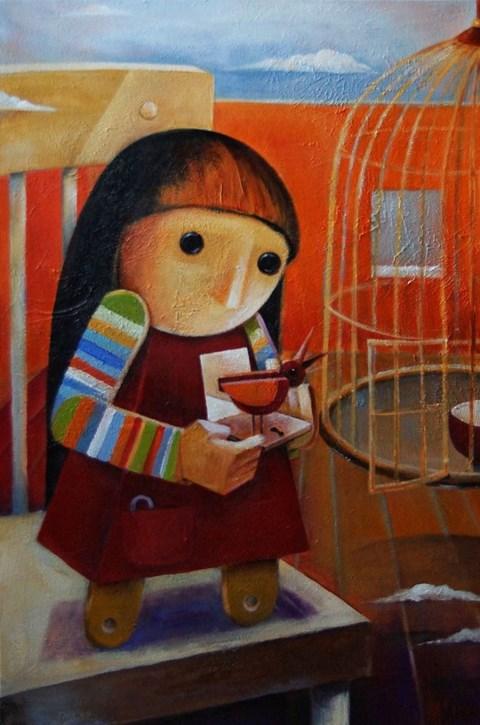 Obraz do salonu artysty Mirella Stern pod tytułem Niespokojne serce