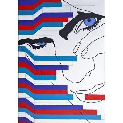 Obraz do salonu artysty Viola Tycz pod tytułem Na krawędzi RGB XX