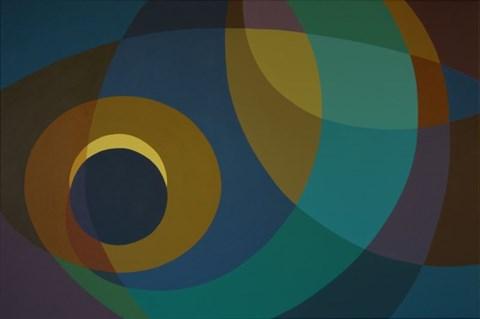 Living room painting by Joanna Sułek-Malinowska titled Eclipse