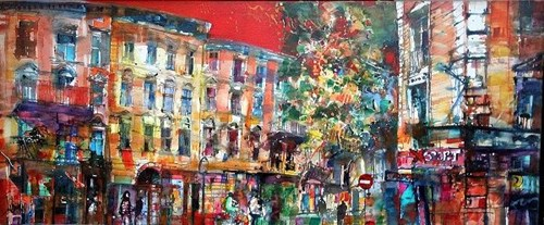 Obraz do salonu artysty Krzysztof Ludwin pod tytułem Czerwone niebo