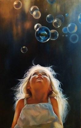 Obraz do salonu artysty Barbara Olszewska pod tytułem Marzycielka