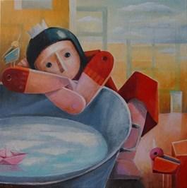 Obraz do salonu artysty Mirella Stern pod tytułem Nad brzegiem własnego nieba