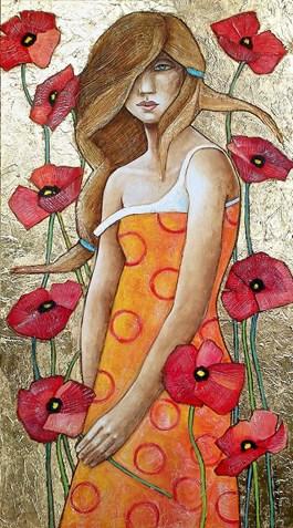 Obraz do salonu artysty Joanna Misztal pod tytułem Cisza pachnąca makami