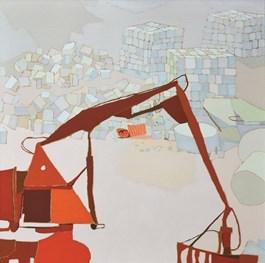 Obraz do salonu artysty Magdalena  Jędrzejczyk pod tytułem Białe zabawki - koparka