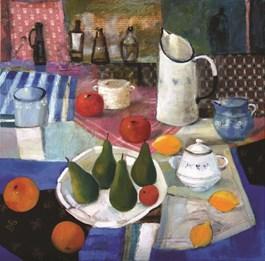 Obraz do salonu artysty Inez White pod tytułem Martwa natura z owocami