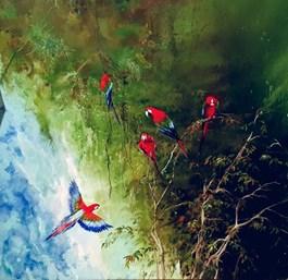 Obraz do salonu artysty Patrycja Kruszynska-Mikulska pod tytułem Głos natury