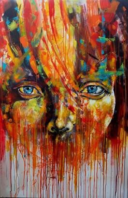 Obraz do salonu artysty Łukasz Jankiewicz pod tytułem W poszukiwaniu koloru I