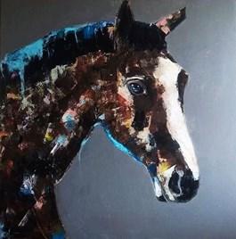 Obraz do salonu artysty Karolina Kucharska pod tytułem Koń na płótnie