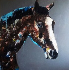 Koń na płótnie