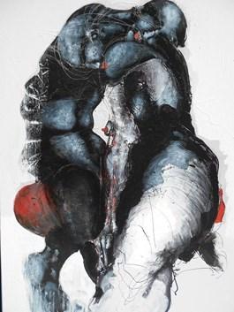 Obraz do salonu artysty Andrzej Domżalski pod tytułem Spotkanie