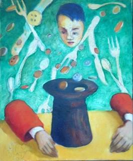 Obraz do salonu artysty Miro Biały pod tytułem Mamona szalona
