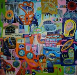 Obraz do salonu artysty Anna Jarzymowska pod tytułem Chromosfera IV