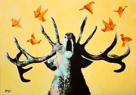 Obraz do salonu artysty Zuzanna Jankowska pod tytułem Ulotne myśli
