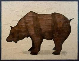 Obraz do salonu artysty Grzegorz Klimek pod tytułem Brązowy niedźwiedź