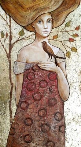 Obraz do salonu artysty Joanna Misztal pod tytułem Ptasie opowieści