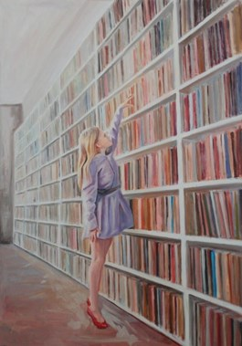 Obraz do salonu artysty Katarzyna Orońska pod tytułem Fioletowa sukienka