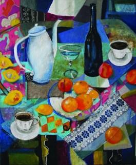 Obraz do salonu artysty Inez White pod tytułem Śniadanie u Tiffaniego