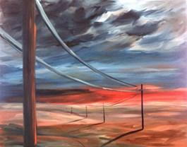Obraz do salonu artysty Jacek Malinowski pod tytułem Verso gli ultimi raggi del sole