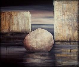 Obraz do salonu artysty Sabina Maria Grzyb pod tytułem Kamienny nokturn