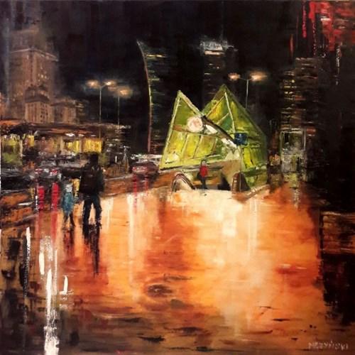 Obraz do salonu artysty Arkadiusz Mężyński pod tytułem Metro Świętokrzyska