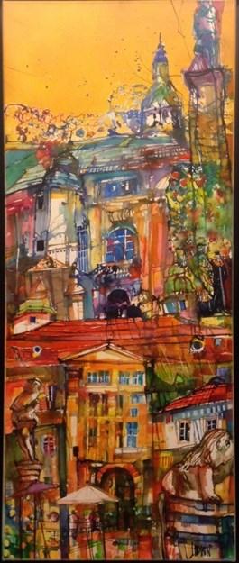 Obraz do salonu artysty Krzysztof Ludwin pod tytułem Z cyklu bajki o miastach