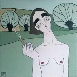 Obraz do salonu artysty Paulina Korbaczyńska pod tytułem Nie mam zimnego drinka. Może być ciepła woda?