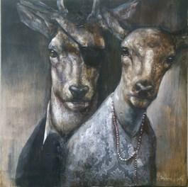 Obraz do salonu artysty Paulina Mager pod tytułem Za plecami