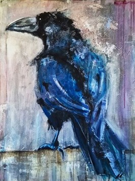 Obraz do salonu artysty Karolina Kucharska pod tytułem Kruk