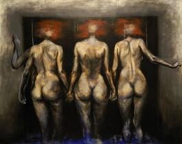 Obraz do salonu artysty Wojciech Pelc pod tytułem Siostry 2