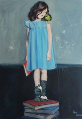 Obraz do salonu artysty Katarzyna Orońska pod tytułem Białe myszki i gwiazdki