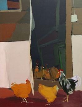Obraz do salonu artysty Magdalena  Jędrzejczyk pod tytułem Kury