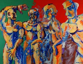 Obraz do salonu artysty Witold Abako pod tytułem Kawalery z Avignona