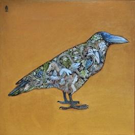 Obraz do salonu artysty Malwina de Brade pod tytułem Kruk