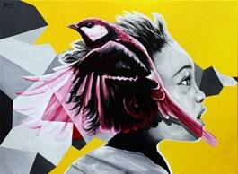 Obraz do salonu artysty Zuzanna Jankowska pod tytułem Myśli przetworzone