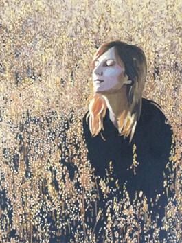 Obraz do salonu artysty Aleksandra Osa pod tytułem W pszenicy