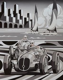 Obraz do salonu artysty Tomasz Kostecki pod tytułem Grand Prix Monaco