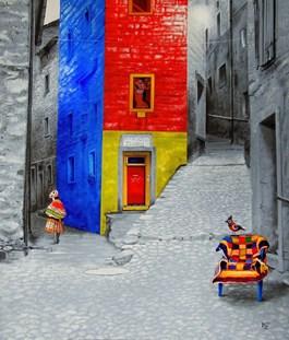 Obraz do salonu artysty Paulina Zalewska pod tytułem Folk loklany V