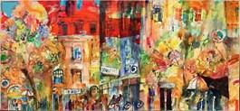 Obraz do salonu artysty Krzysztof Ludwin pod tytułem Jesienne miasta 1
