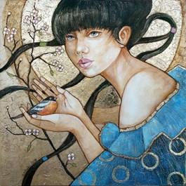 Obraz do salonu artysty Joanna Misztal pod tytułem Już zakwitły wiśnie