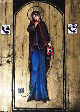 Obraz do salonu artysty Borys Fiodorowicz pod tytułem Telefon zaufania