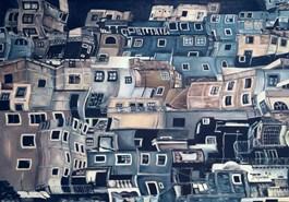 Obraz do salonu artysty Joanna Jeżewska-Desperak pod tytułem Dynamiczny obraz miasta