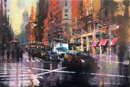 Obraz do salonu artysty Piotr Zawadzki pod tytułem NYC RED