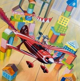 Obraz do salonu artysty Łukasz Czernicki pod tytułem Flying circus