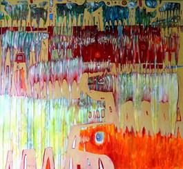 Obraz do salonu artysty Grzegorz Skrzypek pod tytułem Entuzjastyczne powitanie