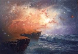 Obraz do salonu artysty Marek Rużyk pod tytułem I niech stanie się ziemia